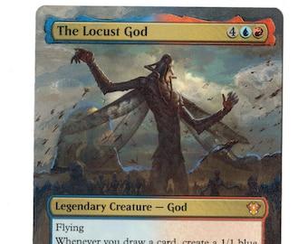 The Locust God Altered Full Art MTG Magic Commander 2020 EDH Gift Birthday Pimp