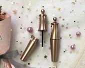 Gold crown eyeliner liquid tube Liquid eyelash Tubes eyelash Brush bottle Empty Cosmetic Tubes