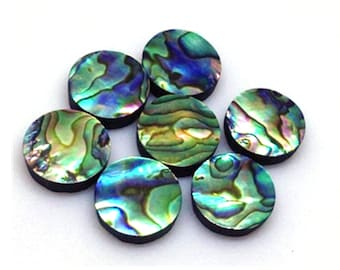 12 PCS BLUE PAUA SHELL INLAY BEADS CRAFT SEASHELL 11MM X 28MM