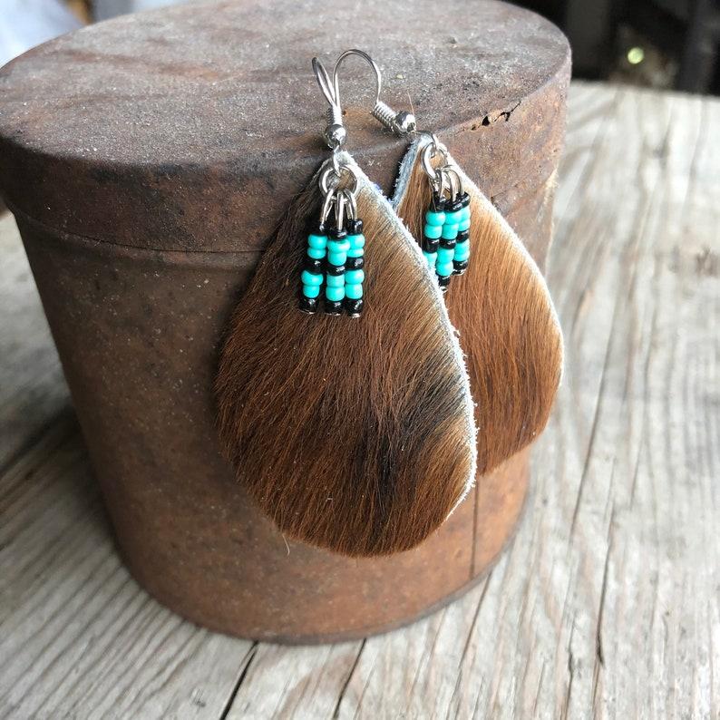 Cowhide Earrings