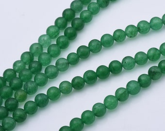 10pcs or 49pcs Dyed Jade Mountain Jade Loose Beads Colored Jade Malaysia Jade 8mm Dark Yellow Jade Round Beads for Bracelet Making