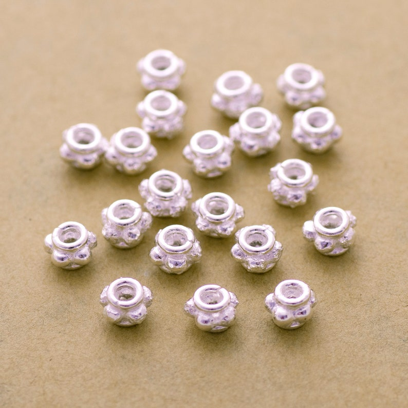 Spacer Beads 20pc-6mm Bali Silver Beads Jewelry Making Silver Plated Bali Spacers Beads