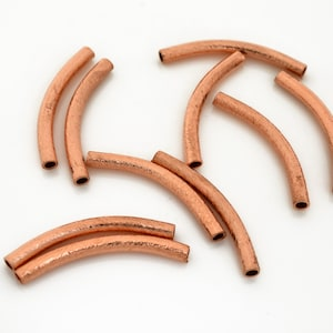Copper brushed finish link beads brushed Copper Connectors 2pcs 40mm round Copper Circle washer findings