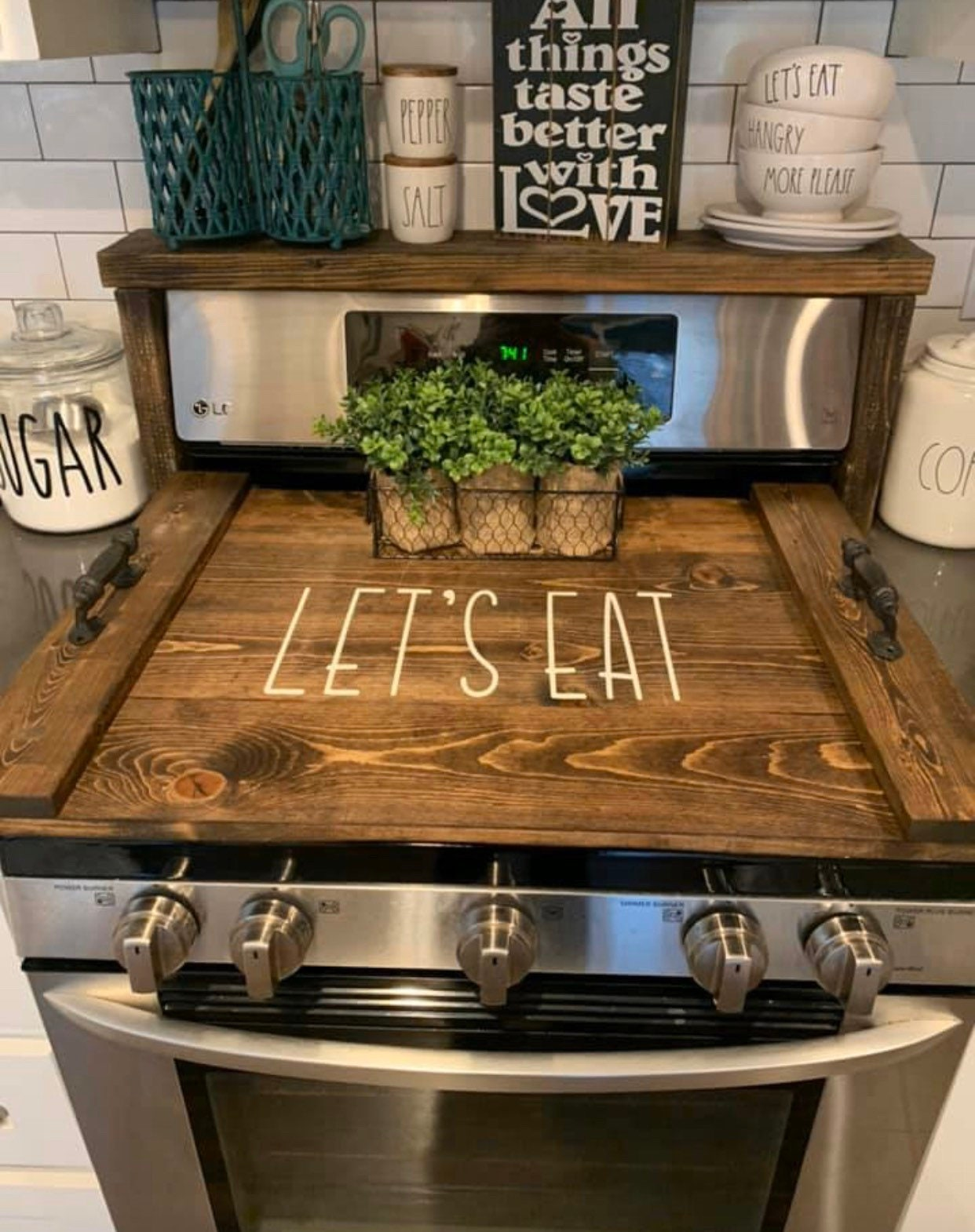 Stove Top Cover Wood Noodle Board Electric Stove Cover Kitchen Etsy
