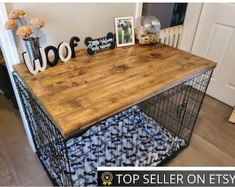 Dog Kennel Wood Table Top Dog Kennel Cover Farmhouse Dog Kennel Top Dog Crate Topper Dog Crate Table Crate Cover Dog Kennel Furniture