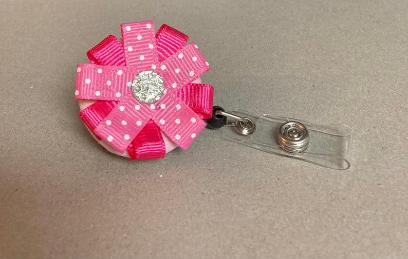pediatric nurse pediatric badge Flower badge holder hospital badge reel gifts for a dentist new teacher gift teacher badge reel