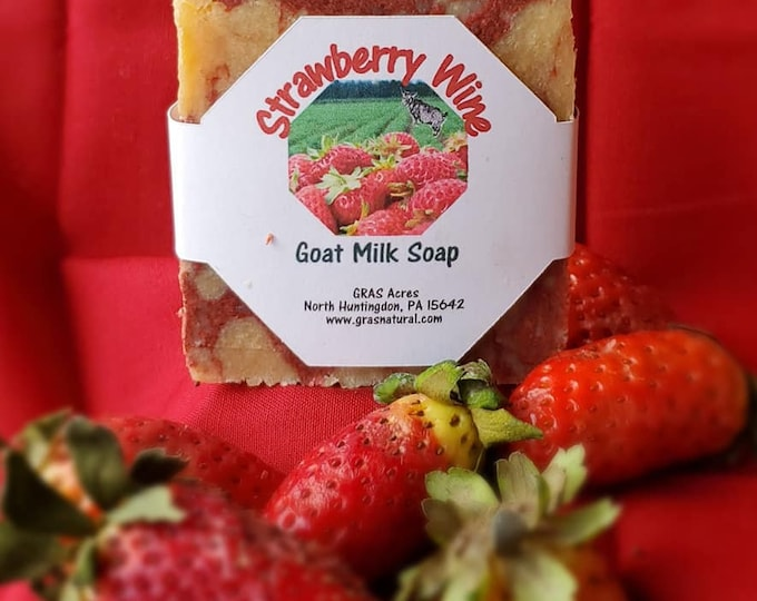 Strawberry Wine Goats milk soap