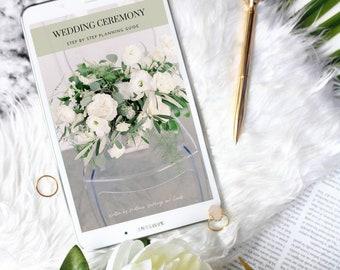 Wedding Ceremony Planning Guide, Printable Wedding Planner, DIY Bride, Wedding Binder, Instant Download PDF