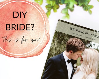 Wedding Planning Guide, Printable Wedding Planner, DIY Bride, Step by Step Wedding, Wedding Binder, Instant Download PDF