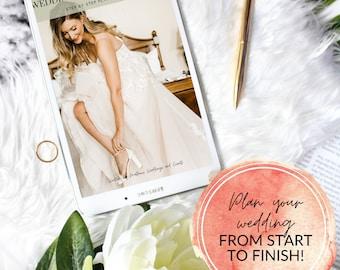 Wedding Planner, Wedding Planning Guide, Printable Wedding Planner, DIY Bride, Wedding Binder, Instant Download PDF