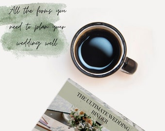 Ultimate Wedding Binder, Wedding Planning Guide, Printable Wedding Planner, DIY Bride, Step by Step Wedding, Instant Download PDF