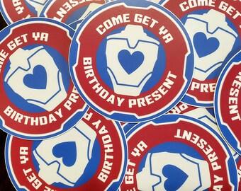"""3"""" Apex Legends Sticker: Lifeline """"Come Get Ya Birthday Present"""""""