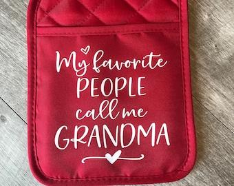 Gift for Grandma, Hot pad, Hotpad, Pot Holder, Potholder, Gift, Nana, Grandma, Birthday, Oven mitt, gift from grandkids, Mother's Day gift