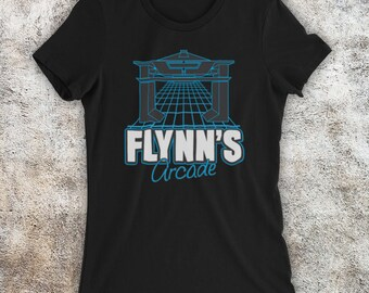 FLYNN`S ARCADE Kids Boys T-Shirt Tron Encom Games City Flynn International tech
