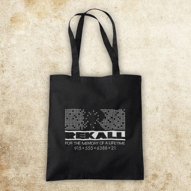 Total Recall Rekall Cult Sci Fi Arnold Shwarzenegger Arnie Action Film Quaid Unofficial Cotton Tote Bag Shopper