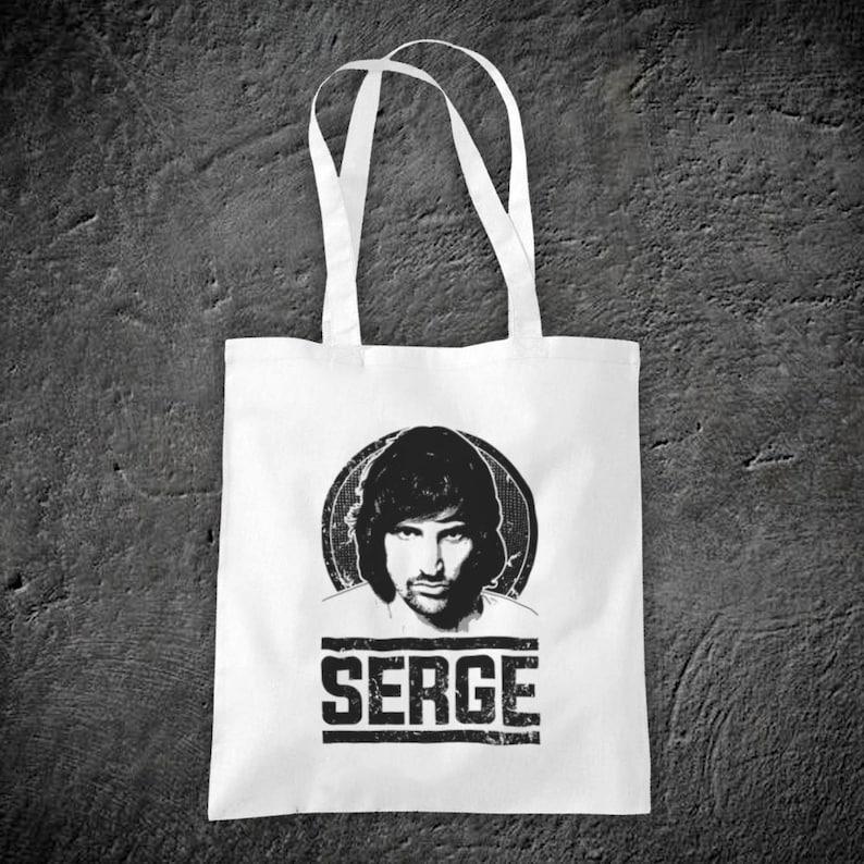Serge Sergio Pizzorno Tribute English Rock Band Member Guitarist Unofficial Cotton Tote Bag Shopper