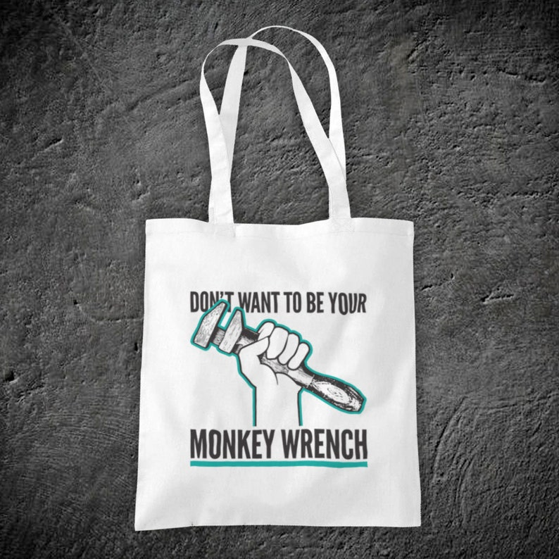 Monkey Wrench Dave Grohl American Rock Band Unofficial Cotton Tote Bag Shopper