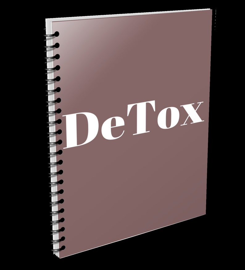 Detox. notebook perfect for notes or journal. Self-Care Light Brown