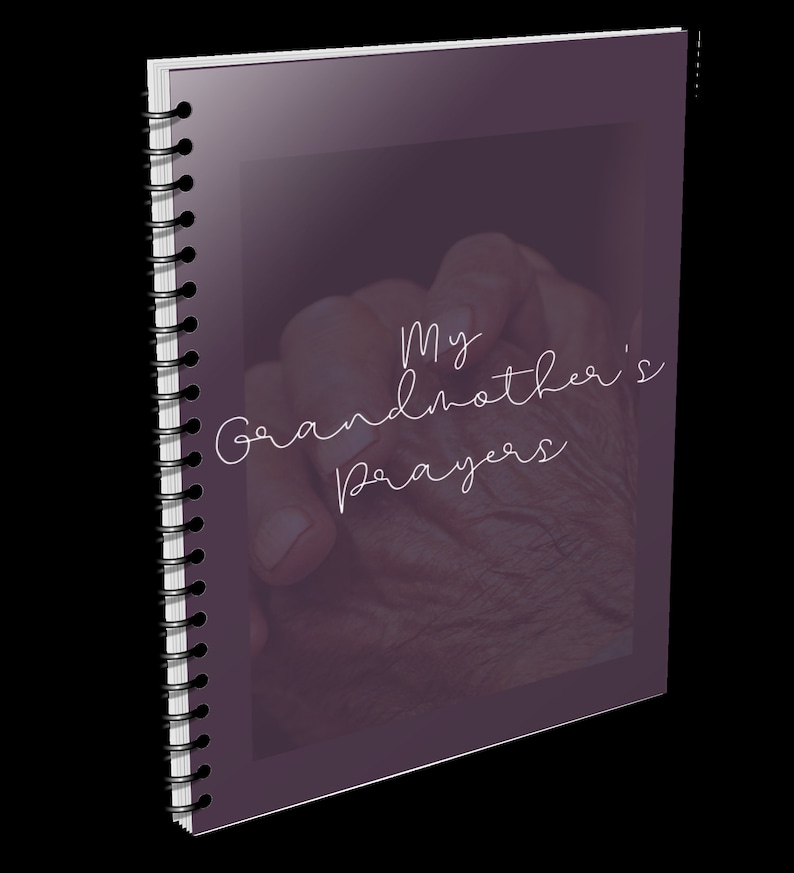 My Grandmother's Prayers notebook perfect for notes or Dark Brown
