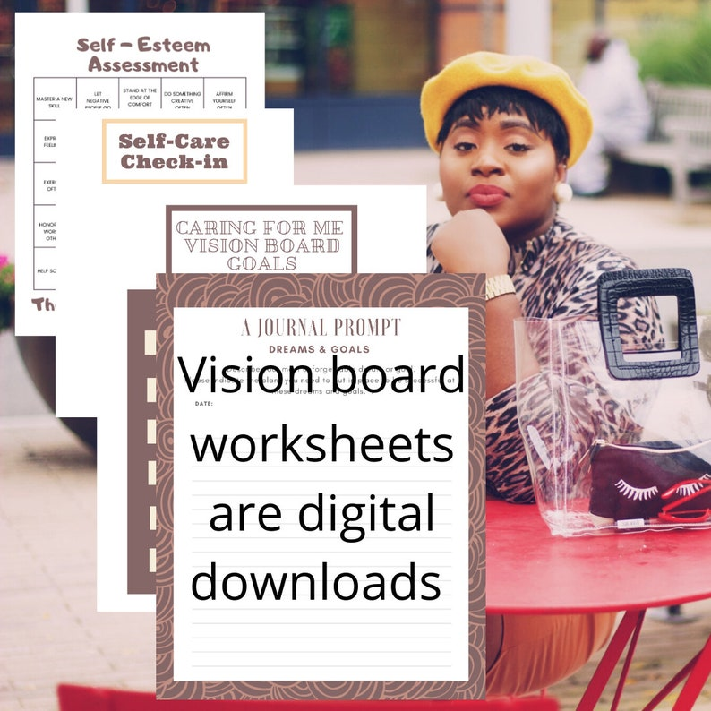 Vision Board Worksheets to improve your goal setting any time image 0