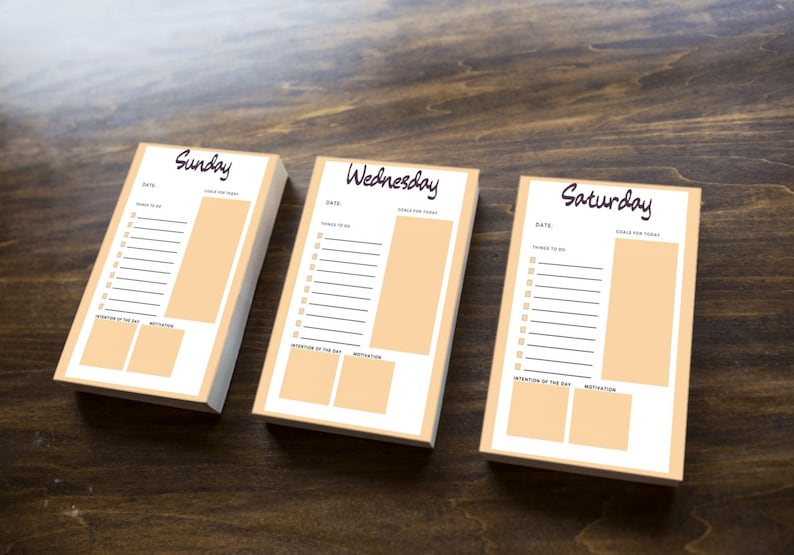Daily Planner sheets used for weekly intentional planning image 0