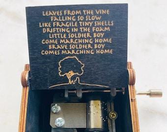 Avatar Music Box: TV Show Music Box - Avatar Fan Gift - Avatar Tv Show Gift - Custom Engrave Box - Avatar Gift - Leaves from the vine