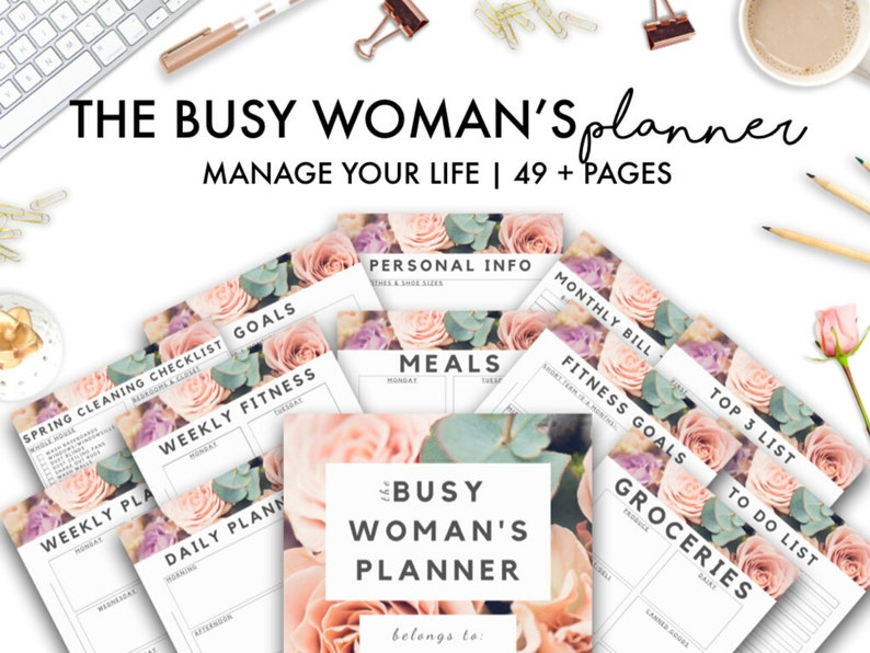 The Busy Woman's Planner BUNDLE Mom Planner Budget image 0
