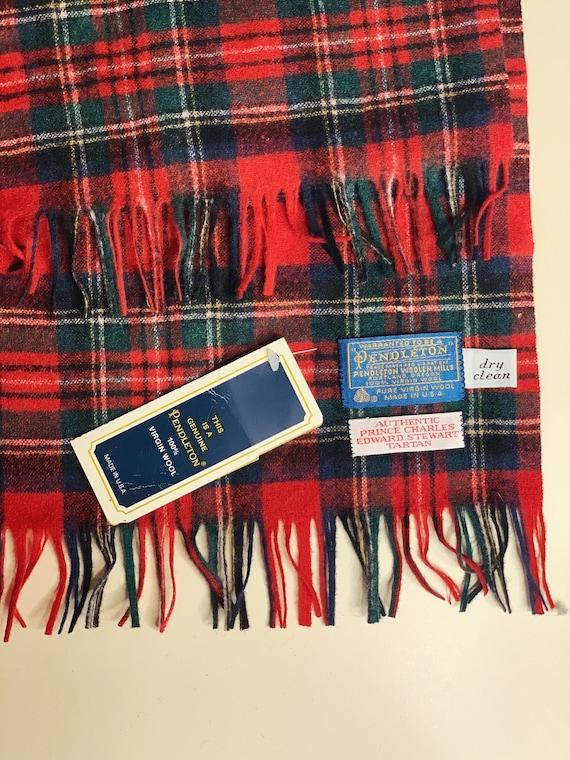 Vintage Wool Pendleton Scarf