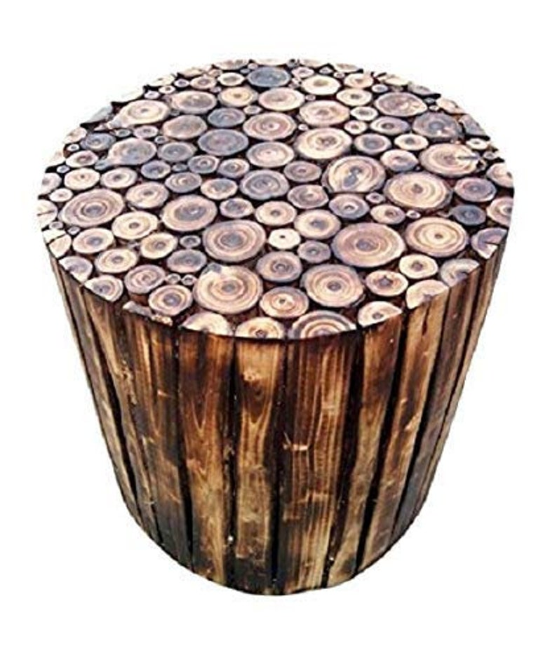 Antique Wood Coffee Table for Living Room Gallery Wooden Round Block Stool