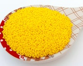 20g 10 0 Yellow Opaque Color, Czech Glass Seed Beads, Preciosa Ornela, yellow Beads 83110-10, Size 10, jewelry DIY, KR102