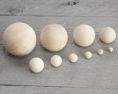 Natural Wooden Balls, Large Small Wooden Balls, Wood Beads, Game Balls, Craft Balls, Unpainted Ball
