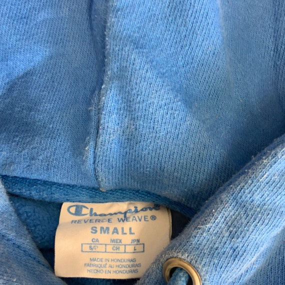 Vintage Champion Reverse Weave Hoodie/ All Blue R… - image 3