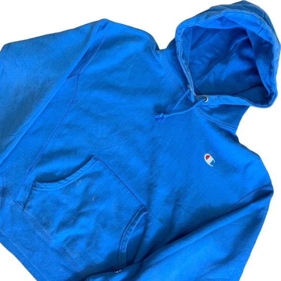 Vintage Champion Reverse Weave Hoodie/ All Blue R… - image 2