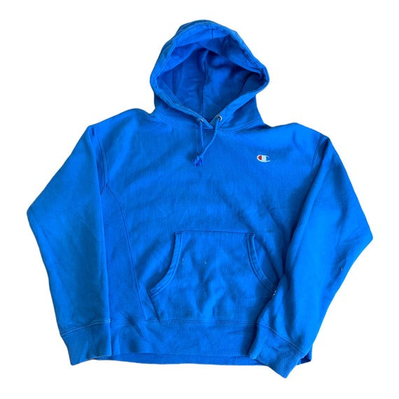Vintage Champion Reverse Weave Hoodie/ All Blue R… - image 1