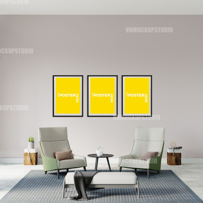 Digital Download Interior Mockup Livingroom Mockup Wall Mockup Empty Wall Mockup Frame Mockup