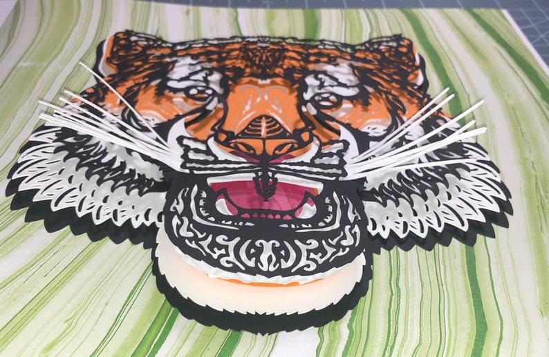 Download 3D Mandala SVG Tiger-7 layered file Cricut Cardstock or | Etsy
