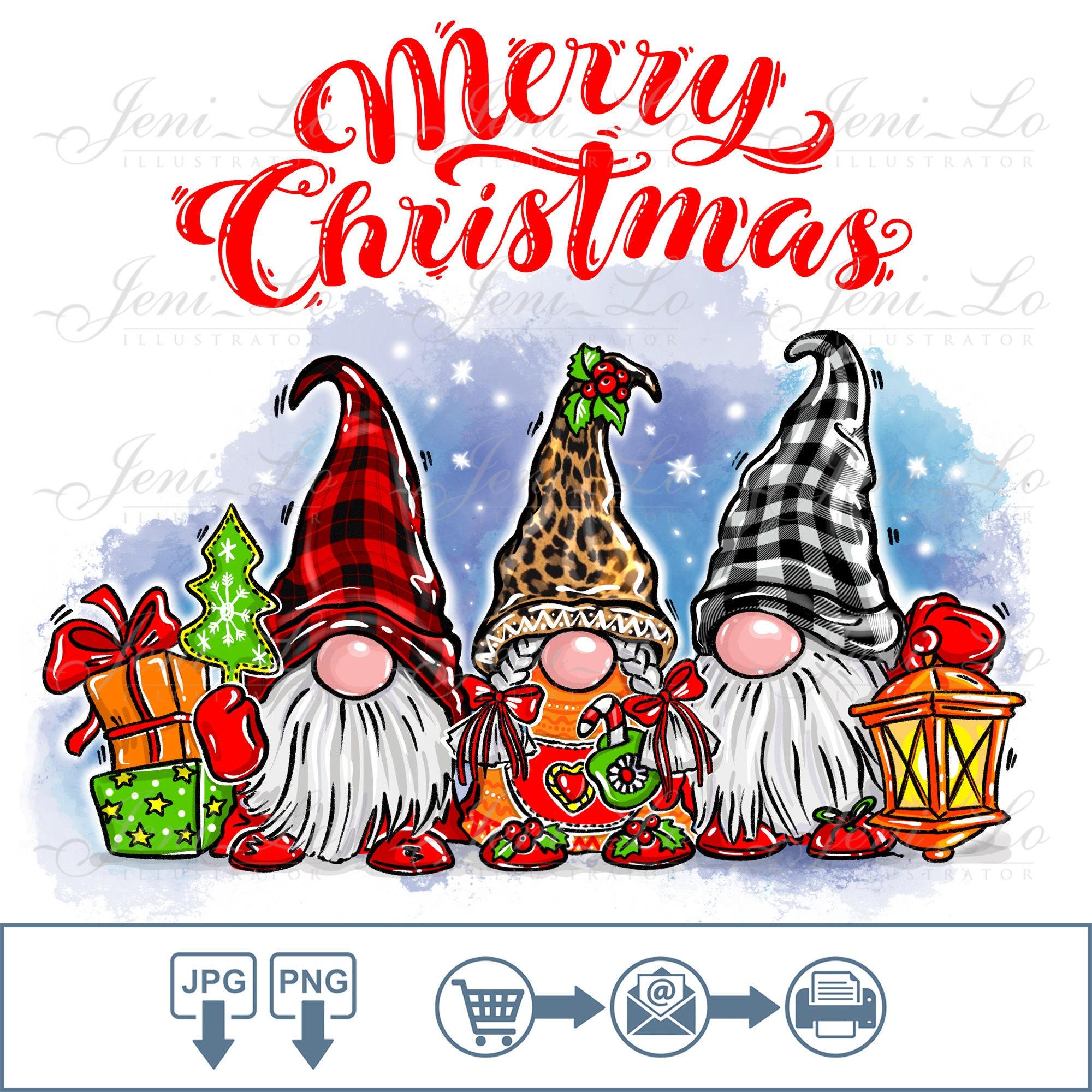 Women/'s Christmas Graphic Shirt Scandinavian Gnomes Shirt Holiday Shirt Christmas Gnomes Gnome Tee Christmas Shirt Gnomes Shirt