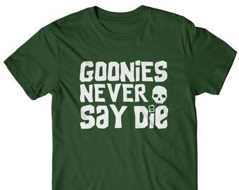 The GooniesLogotipoHierro en impresión de transferencia la camiseta