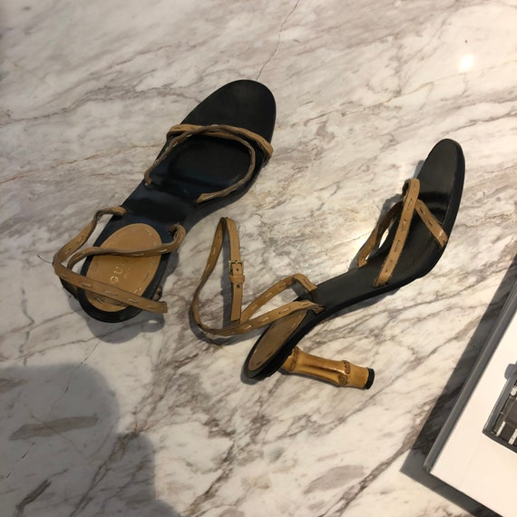 SOLD Tom Ford Era Gucci Bamboo Heel Sandal