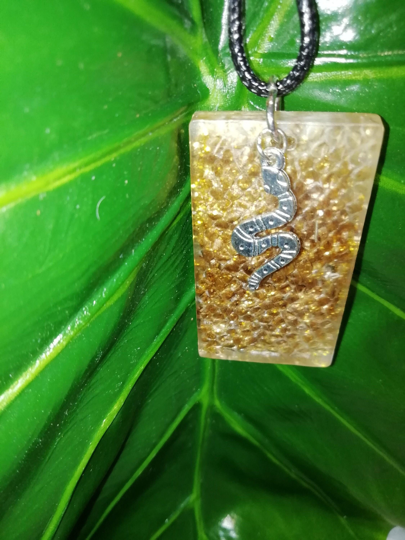 Ball Python Snake Shed Skin Necklace