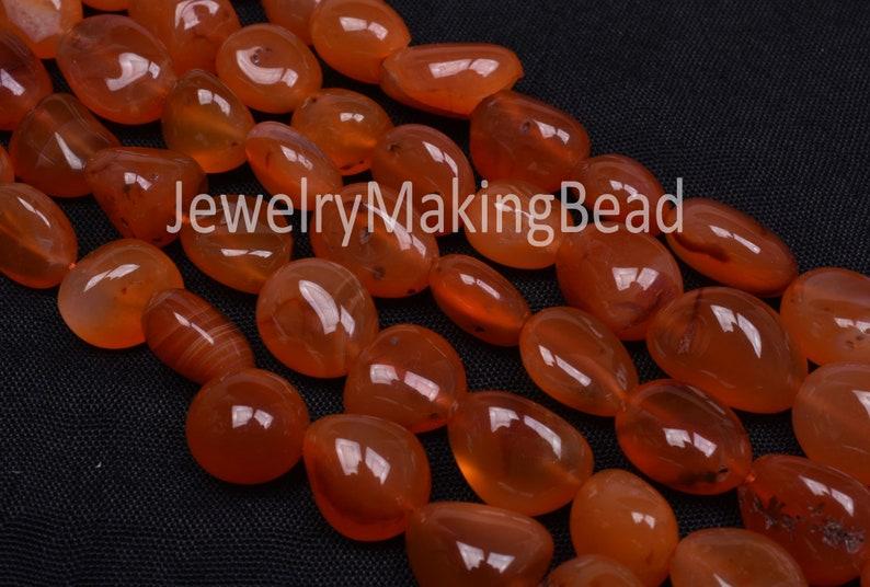 Carnelian Handmade Smooth Beads Amazing Orange Smooth Nuggets Shape Beads,11-16 mm Orange Carnelian Tinny Nuggets Beads Jewelry making