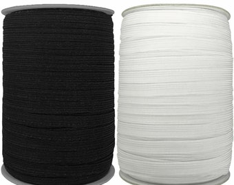 5-10m Dressmaking Hat Making Braided Stretch Cord Ear Loop Elastic 2.5mm Black Round Elastic Cord Black Elastic for Face Mask Making