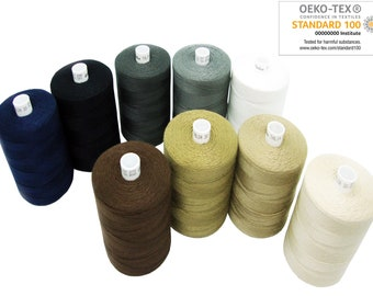 Hand Machine Sewing THREAD 1000m Spool Polyester 30 Oeko-Tex Tailor Upholstery