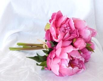 2 tone baby /& dusky rose pink silk//satin like rose fascinator hair clip//corsage