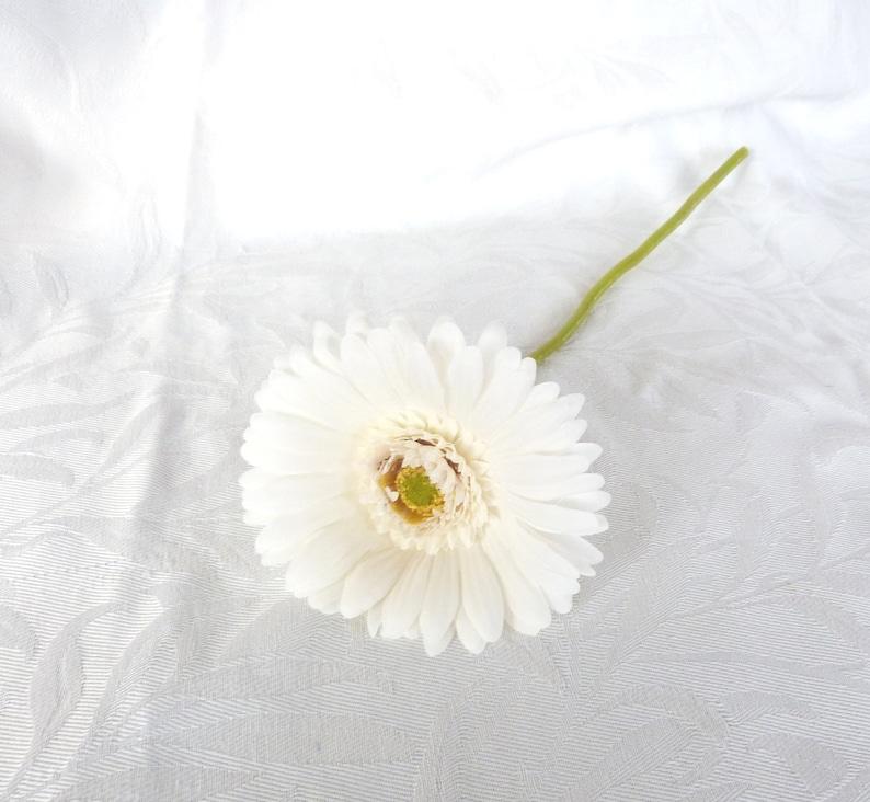 Artificial Gerbera Daisy 6 creme white gerbera daisies silk flower DIY bouquet
