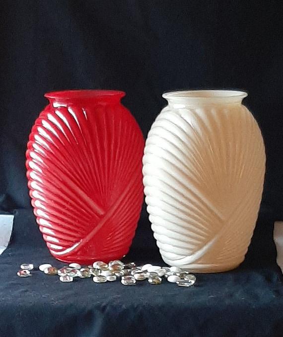 Vintage Art Deco Style Drape Vase Vintage Home Decor Idea Etsy