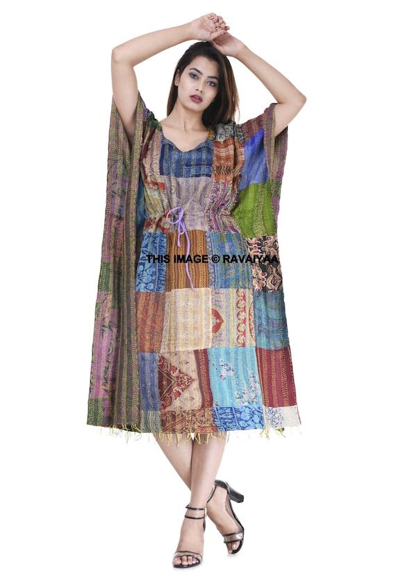 EXPRESS SHIPPING-Indian Handmade Women/'s Kaftan Plus Size