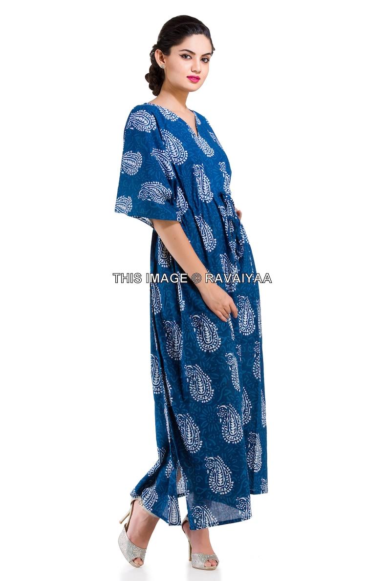 Night Gown Spa Robe Bohemian Dress Plus Size Kaftan Beach Coverup Long Cotton Dress Indian Resort Wear Women Caftan Indian Maxi