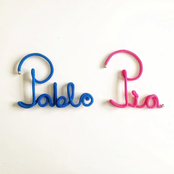 Nursery Name Signs • LARGE Custom wire word • Any word • Personalised gift • knitted word • wire words • custom gift • personalised gift