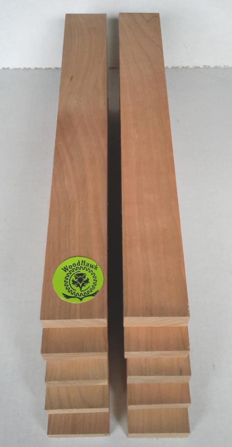 Kiln dry Made by Wood Hawk Lumber Pack of 5 or 10 CHERRY 34 x 2 x 12 Wood Lumber Boards